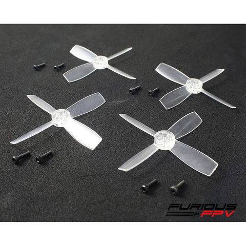 FuriousFPV High Performance 2435-4 Propellers (Transparent / 2CW & 2CCW)