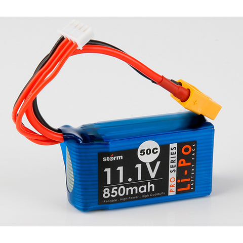 Storm 11.1V 850mAh Pro Series Li-Po Battery