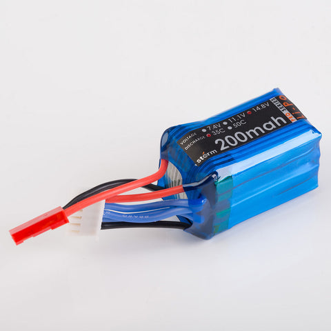 Storm 14.8V 200mAh 35C LiPo Battery Pack (JST)