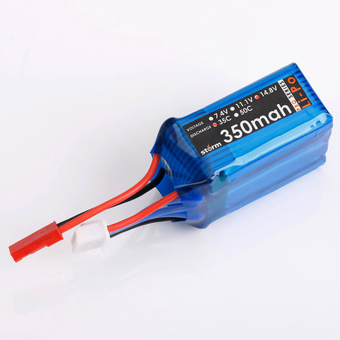 Storm 14.8V 350mAh 35C LiPo Battery Pack (JST)