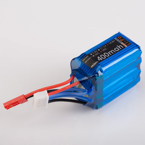 Storm 14.8V 400mAh 50C LiPo Battery Pack (JST)