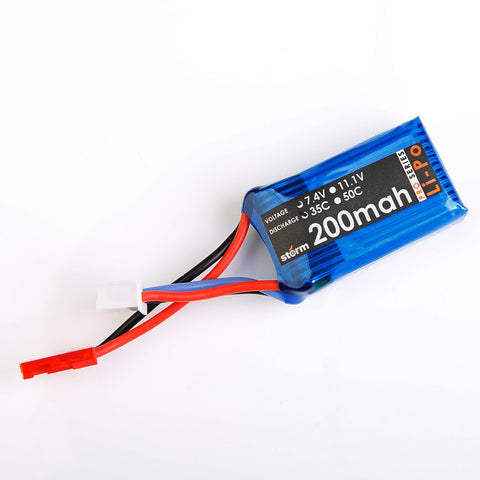 Storm 7.4V 200mAh 35C LiPo Battery Pack (JST)