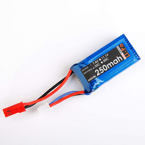 Storm 7.4V 250mAh 35C LiPo Battery Pack (JST)