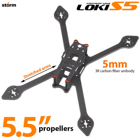 Storm Racing Drone Loki-S5 Stretched Arms Frame Set (5.5