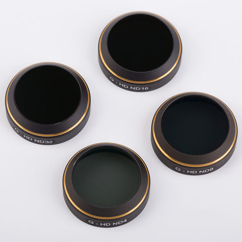 PGY-Tech Filter Lens for DJI Mavic (ND4 / ND8 / ND16 / ND32 - 4pcs)
