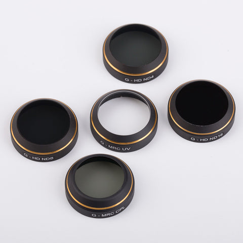 PGY-Tech Filter Lens for DJI Mavic (UV / ND4 / ND8 / ND16 / CPL - 5pcs)