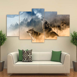 Wolves Wall Art Canvas