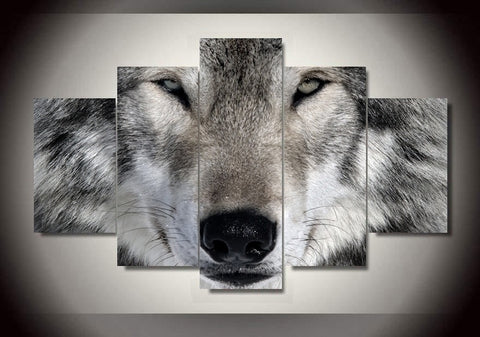 Wall Canvas Wolf Image