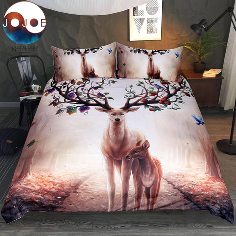 Deer Season Duvet Set by JoJoesArt