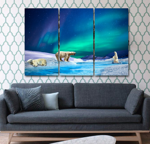 Polar Bear Boreas Canvas
