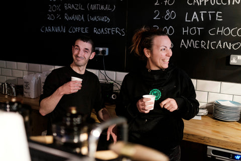 John and Valentina have made March Coffee the new place to go