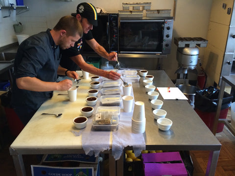 Our first cupping session at Exploding Bakery in 2014