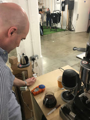 Brew master Chris from Outpost Coffee