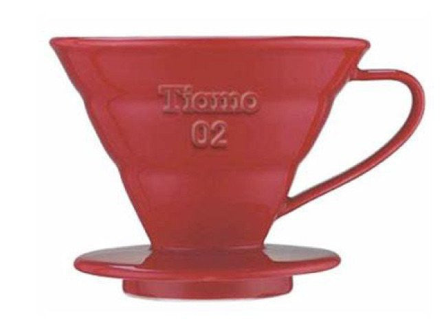 Tiamo RED Ceramic V02 (2 cup) Dripper Set