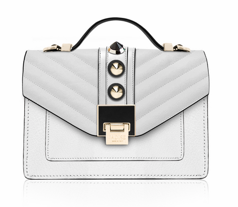 Pochette Elisa White and Gold