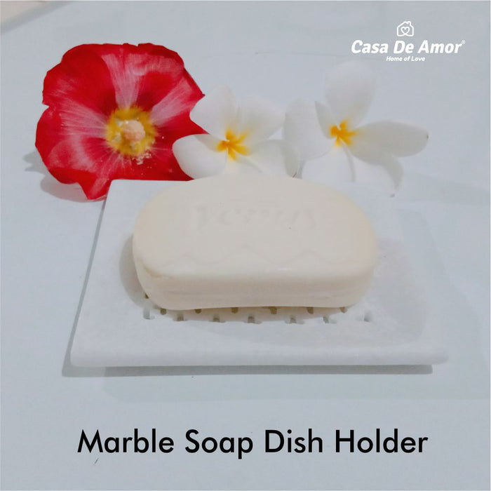 Casa De Amor Marble Soap Dish Holder, Beautifully Crafted for Bathroom, Wash Basin