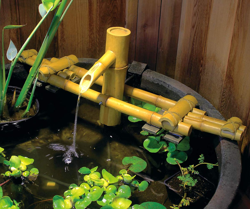 Bamboo Fountain for Ponds and Water Gardens