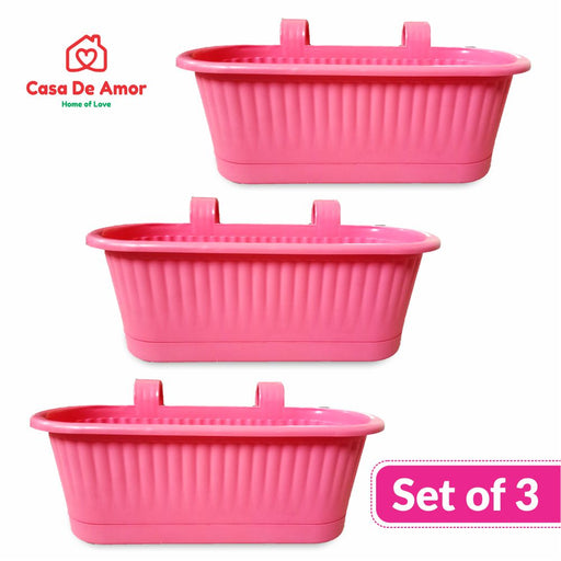 Casa De Amor Plastic Pot Double Hook (Set of 3)