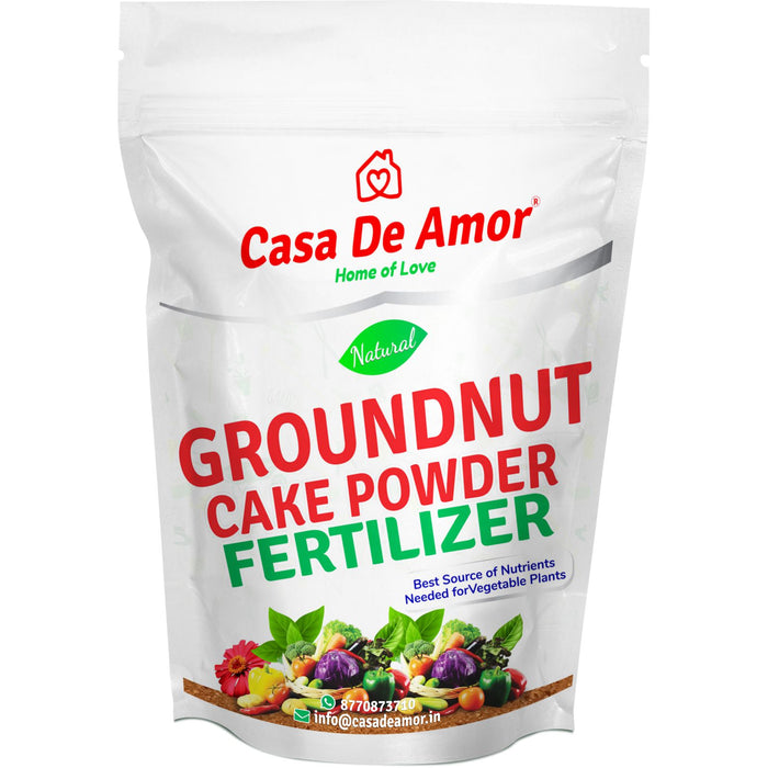Casa De Amor Natural Groundnut Cake Powder Fertilizer for Home, Balcony, Terrace & Outdoor Gardening (900 Gm)