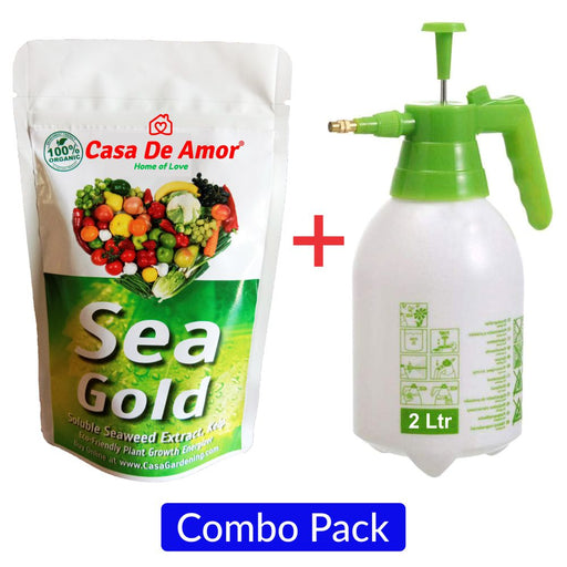 Casa De Amor Special Combo Pack-Organic Seaweed Extract (100 gm)+Hand Sprayer for Gardening (2 Ltr)