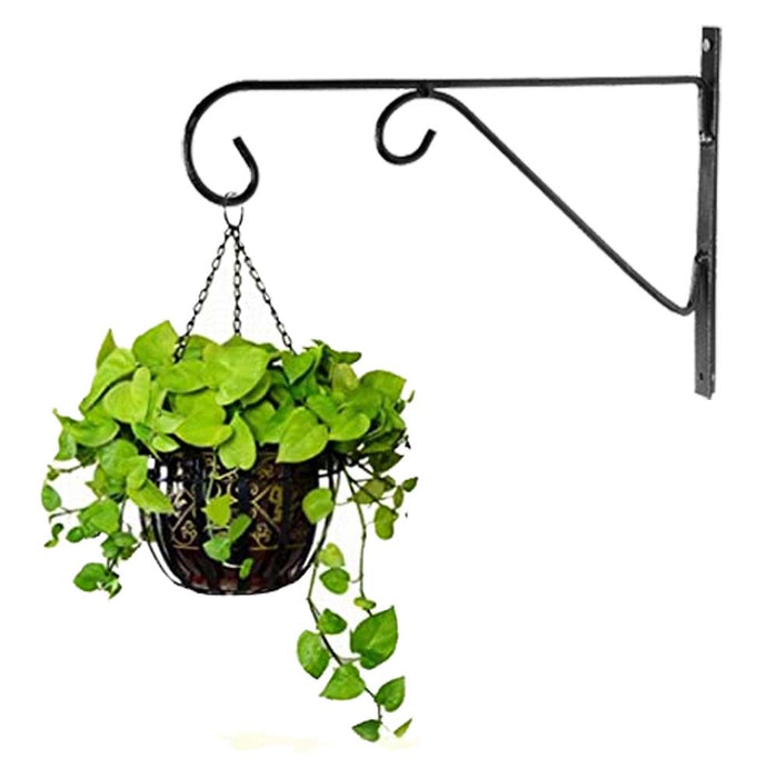 Plant Hanger Brackets Wall Mounted-Metal Hooks for Flower Planter Bird Feeder Wind Chimes-Set of 2