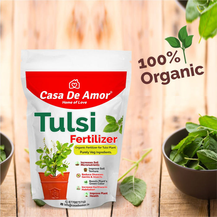 Organic Tulsi Fertilizer for tulsi plant in Balcony, Terrace & Home Gardening 900 gm