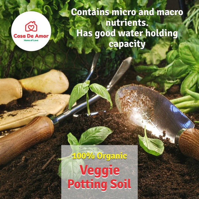Veggie Potting Soil, Organic, Grow vegetables and herbs in Kitchen Garden, Terrace Garden