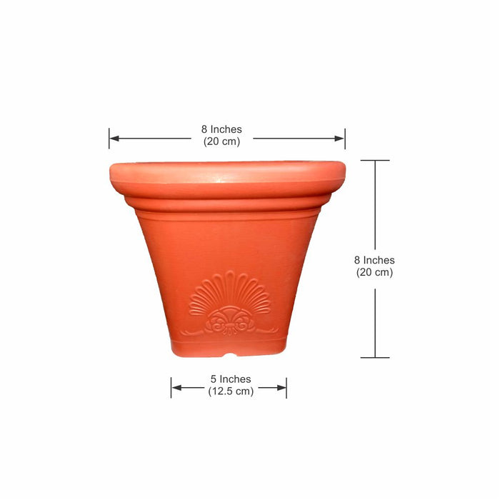 Casa De Amor  Square Planter Pot 10 inches (Pack of 3)