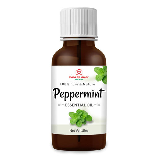 Casa De Amor Peppermint Oil,Natural Ideal For Use In Aromatherapy For Skin & Muscles-15 ml