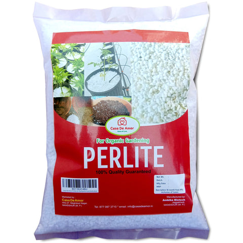 Perlite for Hydroponics & Horticulture Terrace Gardening Soil Conditioner (White)