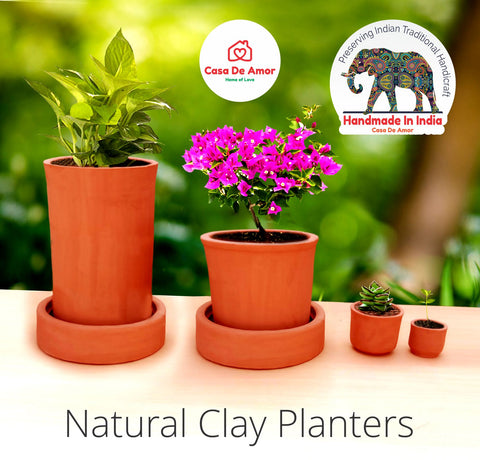 Natural Clay (Terracotta) Planters (Set of 4)