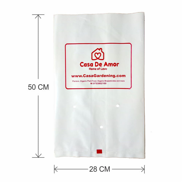 Larger Poly Grow Bags (15) Best for Kitchen Gardens, Terrace Gardens, Balcony Gardens