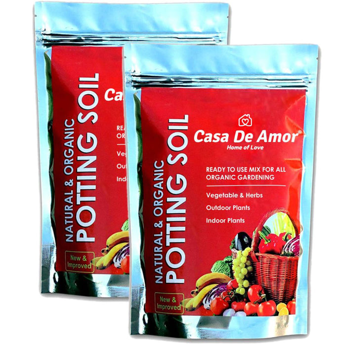 Casa De Amor Natural Potting Soil Mix with Organic Fertilizer for Flowers, Vegetables and Air Purifier Plants