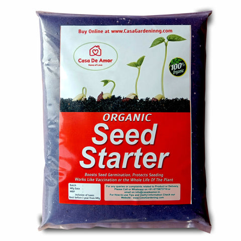 Casa De Amor Organic Seed Starter Mix, for Better Germination, Fast Growth and Health of Seedlings