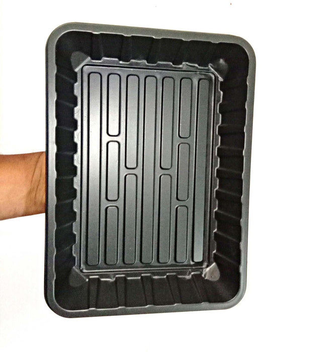 "Casa De Amor Microgreens Trays 10""x7.2"" (No Drain Holes) - Perfect Garden Seed Starter Grow Trays: for Seedlings, Indoor Gardening, Growing Microgreens, Wheatgrass & More- Pack of 10"