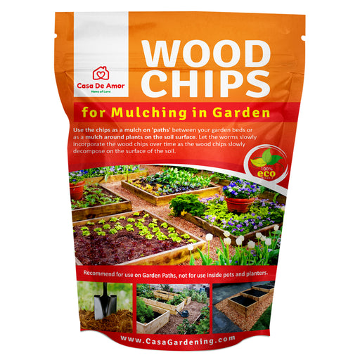 Casa De Amor Wood Chips for Mulching in Garden 100% Organic 10 Kg - Casa De Amor Organic Gardening India