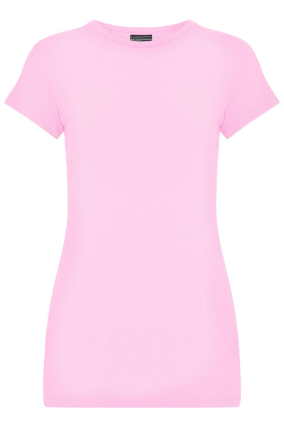 Bamboo Perfect Fit Contour Tee - Brushed Pink