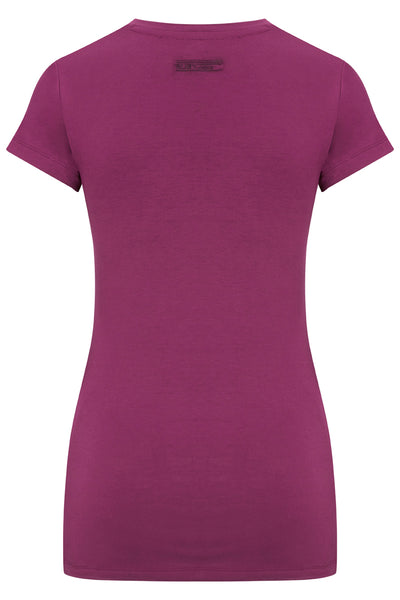 Bamboo Perfect Fit Contour Tee - Chrysanthemum Pink