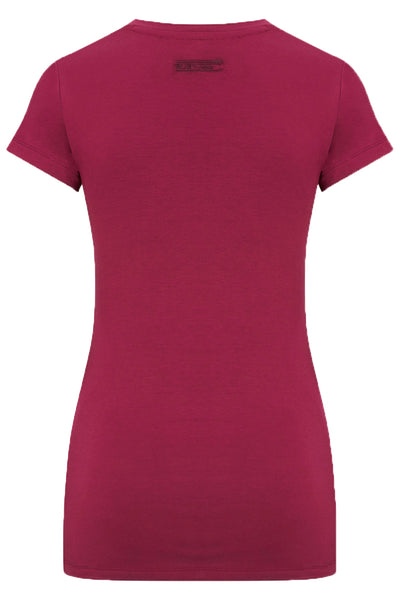 Bamboo Perfect Fit Contour Tee - Hot Pink