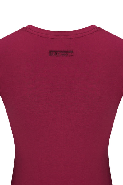 Bamboo Perfect Fit Contour Tee - Fuchsia Pink