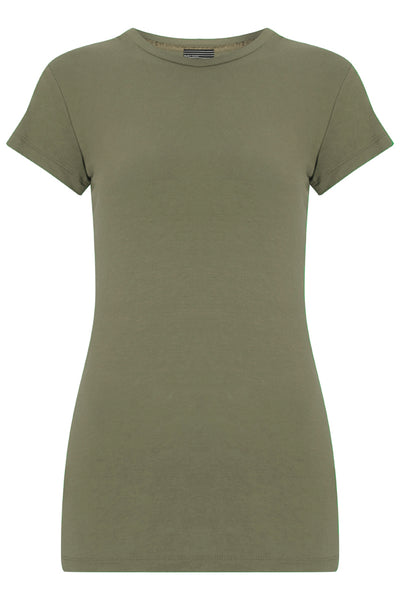 Bamboo Perfect Fit Contour Tee - Hammersmith Khaki