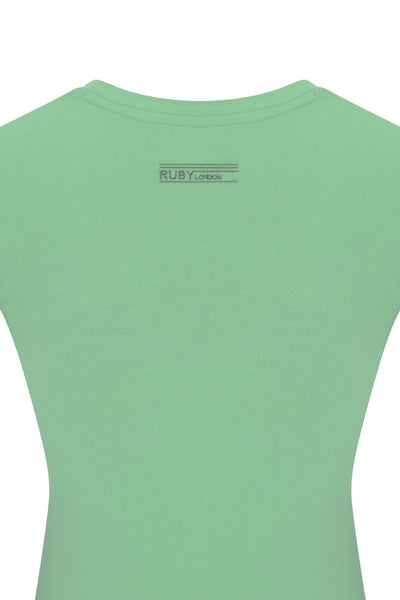 Perfect Fit Contour Tee - Viscose - Super Soft  - Spearmint