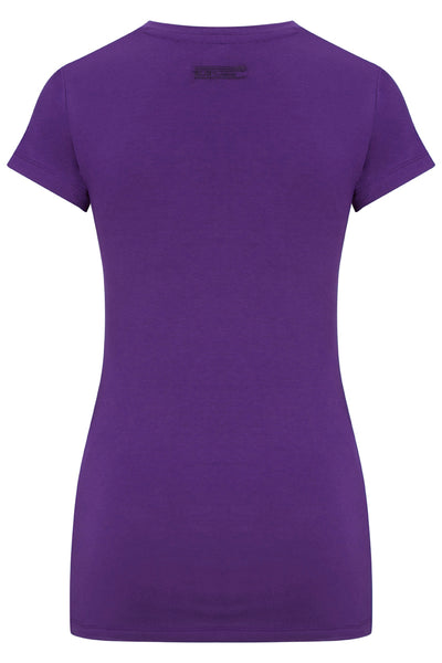 Bamboo Perfect Fit Contour Tee - Crushed Violet
