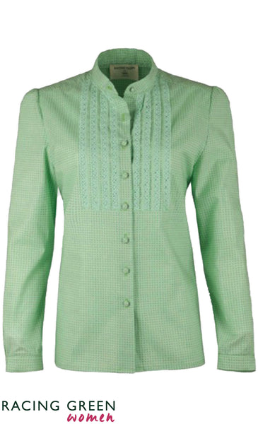 Racing Green - Long Sleeve Conservatory Vintage Blouse - Pale Green