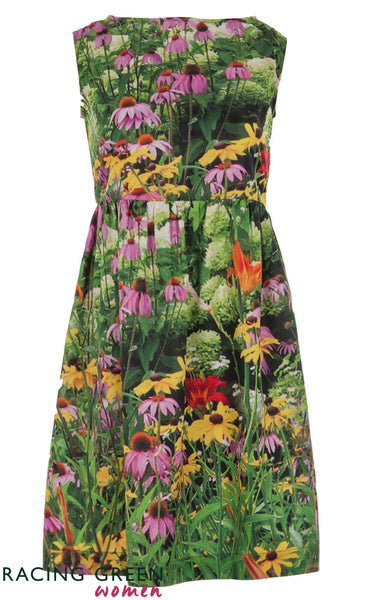 Racing Green - Garden Tea Dress - Green