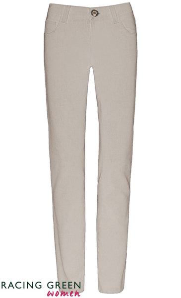 Racing Green - Vintage Mid Rise Jean - Ivory