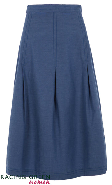 Racing Green - Pavillion Skirt - Bright Blue