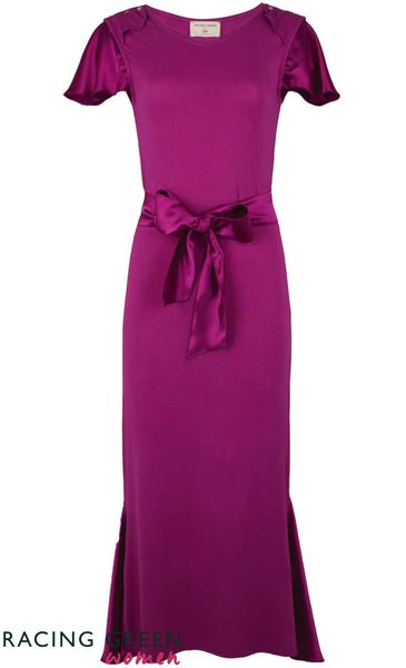 Racing Green - Pavillion Tea Dress - Dark Pink