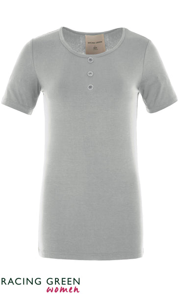 Racing Green - Three Button Tee - Ivory