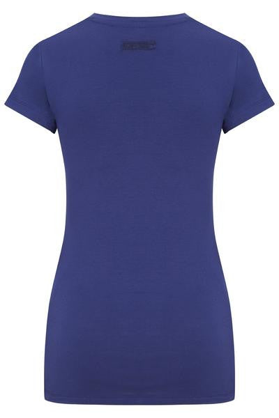 Bamboo Round Neck Contour Tee - Royal Blue